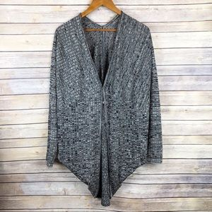 Exclusively Misook Ribbed Cocoon Cardigan Size M